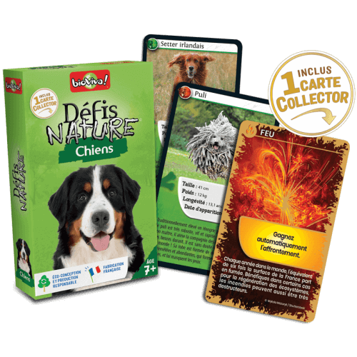 Défis Nature Chiens - Jeu à partir de 7 ans - Bioviva, créateur de jeux qui font du bien.