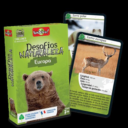 Desafios Naturaleza Europa - Juego a partir de 7 años - Bioviva, creador de juegos que hacen el bien.