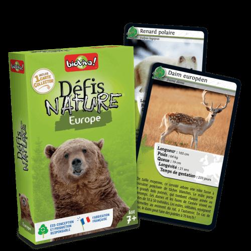 Défis Nature Europe - Jeu à partir de 7 ans - Bioviva, créateur de jeux qui font du bien.