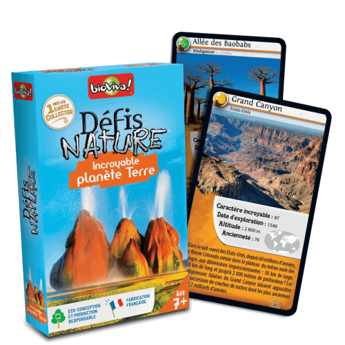 Défis Nature Incroyable planète terre - Jeu à partir de 7 ans - Bioviva, créateur de jeux qui font du bien.