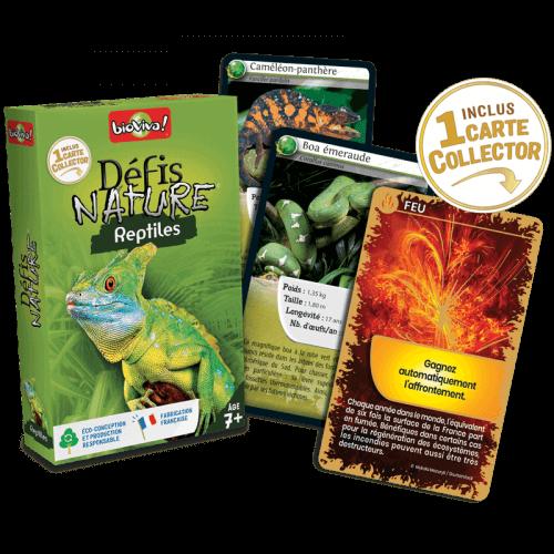 Défis Nature Reptiles - Jeu à partir de 7 ans - Bioviva, créateur de jeux qui font du bien.