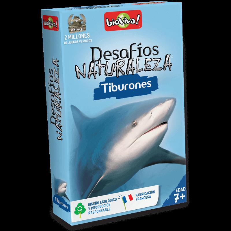 Desafíos Naturaleza Tiburones - Juego a partir de 7 años - Bioviva, creador de juegos que hacen el bien.