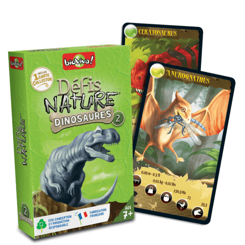 Défis Nature Dinosaures 2 - Jeu à partir de 7 ans - Bioviva, créateur de jeux qui font du bien.