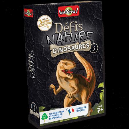 Défis Nature Dinosaures 3 - Jeu à partir de 7 ans - Bioviva, créateur de jeux qui font du bien.