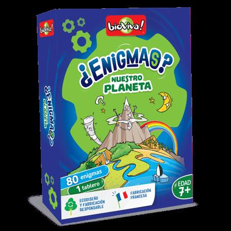 Enigmas Nuestro planeta - Juego a partir de 7 años - Bioviva, creador de juegos que hacen el bien.