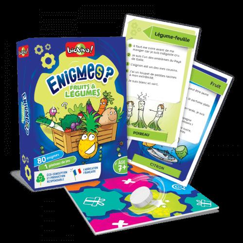 Jeux d'énigmes : Fruits et Légumes - Bioviva, créateur de jeux qui font du bien.