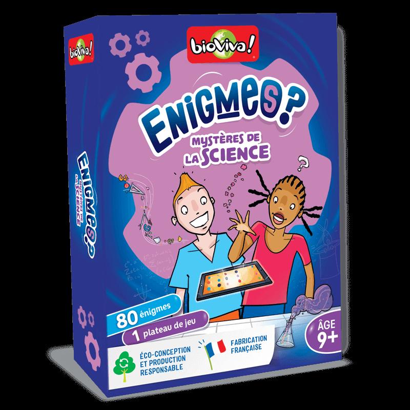 Jeux d'énigmes : Les mystères de la science - Bioviva, créateur de jeux qui font du bien.