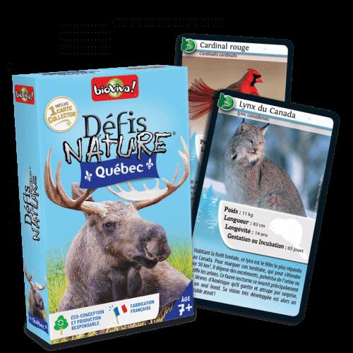 Défis Nature Québec - Jeu à partir de 7 ans - Bioviva, créateur de jeux qui font du bien.
