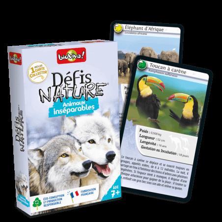 Défis Nature Animaux inséparables - Jeu à partir de 7 ans - Bioviva, créateur de jeux qui font du bien.