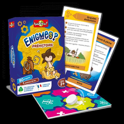 Jeux d'énigmes : Préhistoire - Bioviva, créateur de jeux qui font du bien.