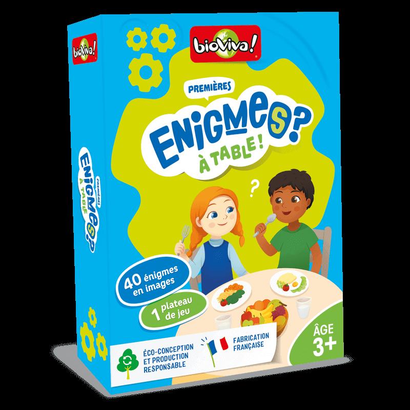 Jeux d'énigmes : Mes premières énigmes à table ! - Bioviva, créateur de jeux qui font du bien.