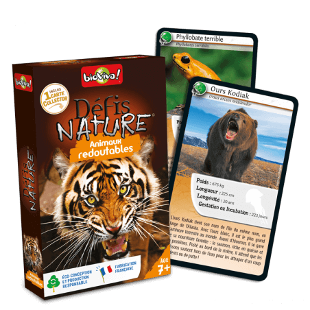 Défis Nature Animaux redoutables - Jeu à partir de 7 ans - Bioviva, créateur de jeux qui font du bien.