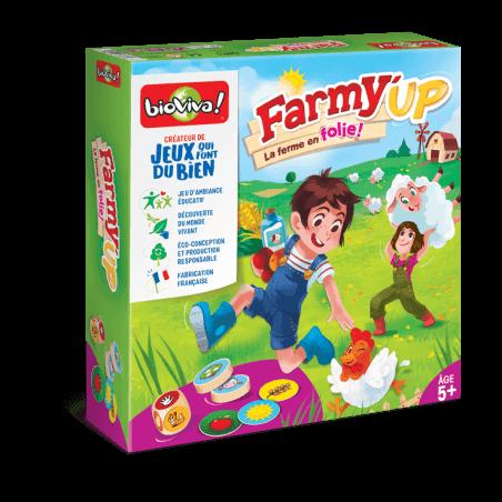 Farmy Up - Jeu à partir de 5 ans - Bioviva, créateur de jeux qui font du bien.