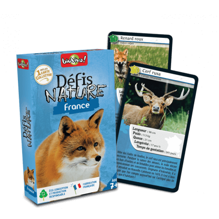 Défis Nature France - Jeu à partir de 7 ans - Bioviva, créateur de jeux qui font du bien.
