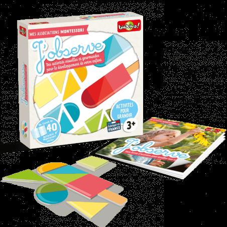 Mes associations Montessori - J'observe - Bioviva, créateur de jeux qui font du bien.