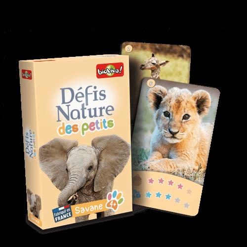 Défis Nature des Petits - Savane - Jeu à partir de 4 ans - Bioviva, créateur de jeux qui font du bien.