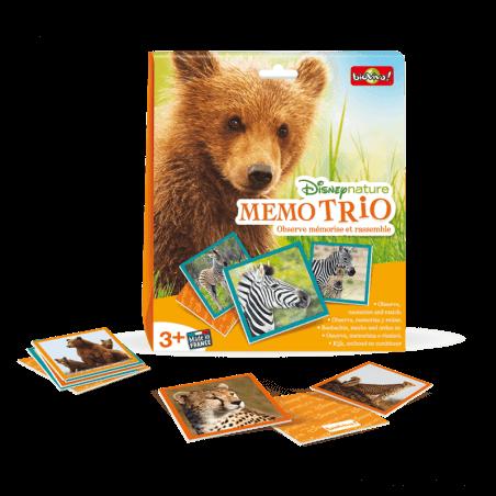 Memo Trio - Disneynature - Jeu à partir de 3 ans - Bioviva, créateur de jeux qui font du bien.