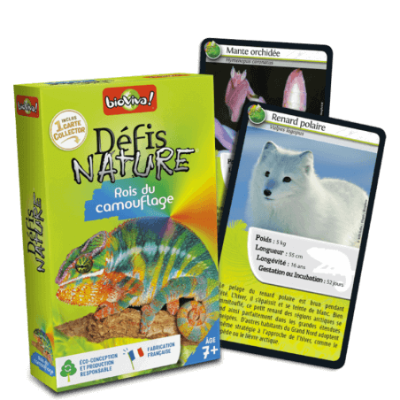 Défis Nature Rois du camouflage - Jeu à partir de 7 ans - Bioviva, créateur de jeux qui font du bien.