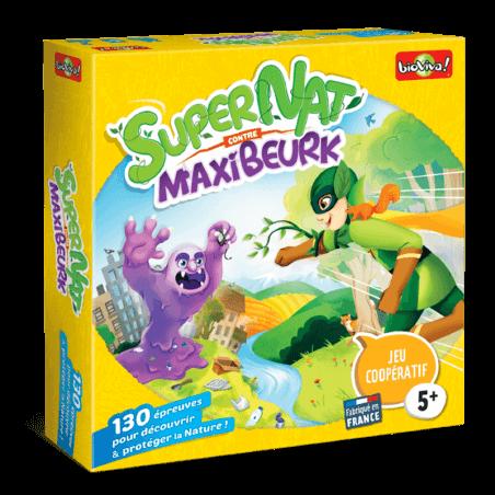 SuperNat' contre MaxiBeurk - Jeu à partir de 5 ans - Bioviva, créateur de jeux qui font du bien.
