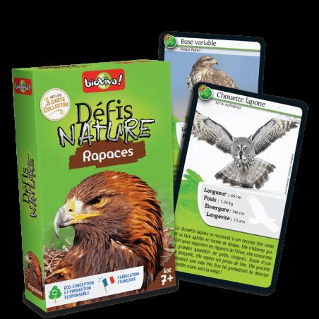 Défis Nature Rapaces - Jeu à partir de 7 ans - Bioviva, créateur de jeux qui font du bien.