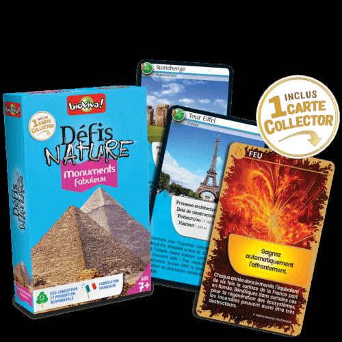 Défis Nature Monuments Fabuleux - Jeu à partir de 7 ans - Bioviva, créateur de jeux qui font du bien.