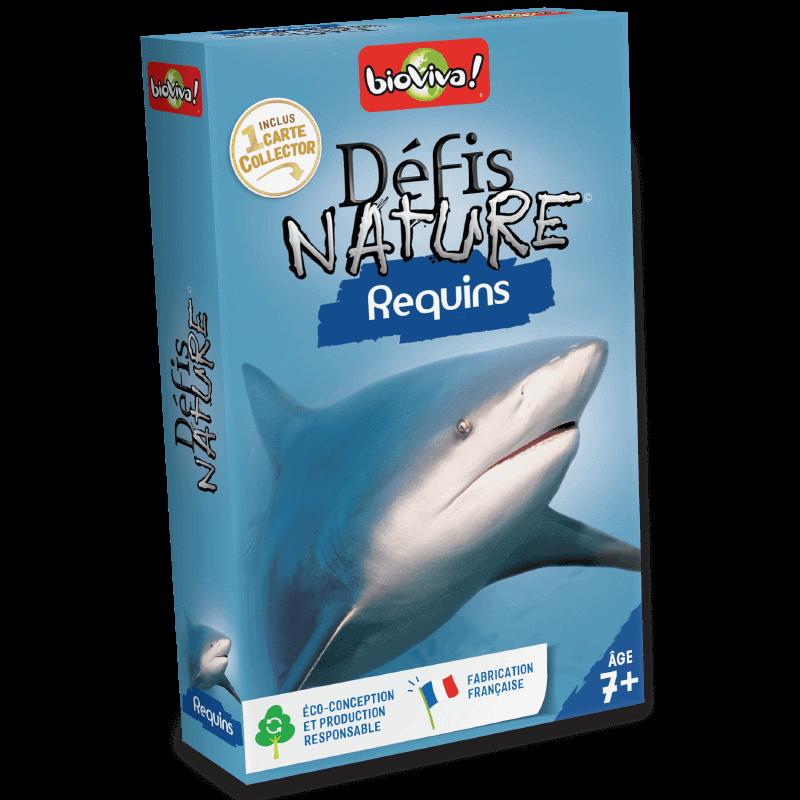 Défis Nature Requins - Jeu à partir de 7 ans - Bioviva, créateur de jeux qui font du bien.