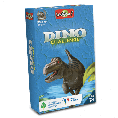 Dino Challenge Bleu - Game from 7 years old - Bioviva, creator of games that do good.