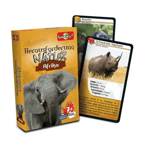 Herausforderung Nature Afrika - Spiel ab 7 Jahren - Bioviva, Entwickler von Spielen, die Gutes tun.