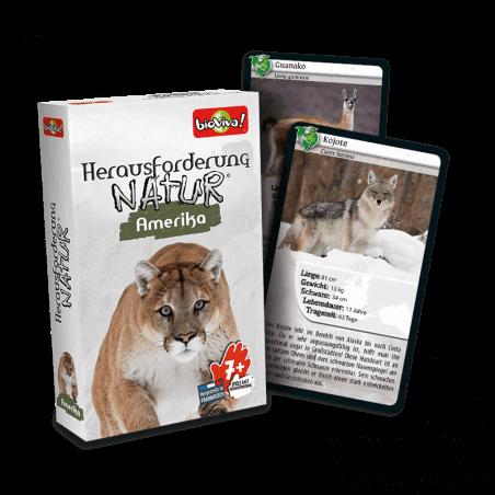 Herausforderung Nature Amerika - Spiel ab 7 Jahren - Bioviva, Entwickler von Spielen, die Gutes tun.