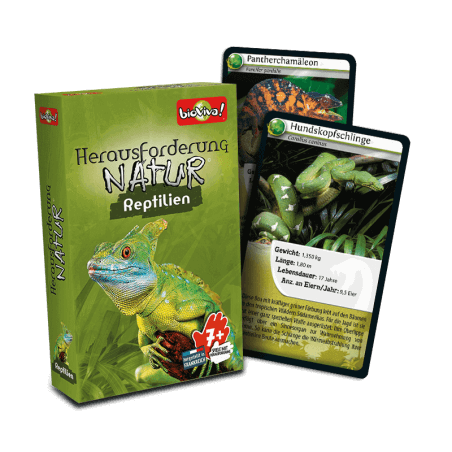 Herausforderung Natur - Reptilien - Spiel ab 7 Jahren - Bioviva, Entwickler von Spielen, die Gutes tun.