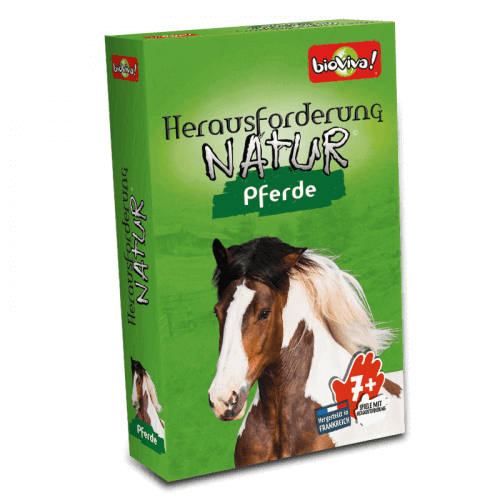 Herausforderung Nature Pferde- Spiel ab 7 Jahren - Bioviva, Entwickler von Spielen, die Gutes tun.