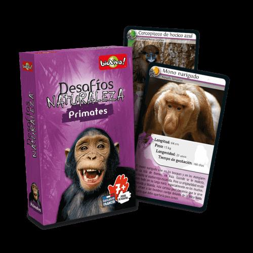 Desafíos Naturaleza Primates - Juego a partir de 7 años - Bioviva, creador de juegos que hacen el bien.