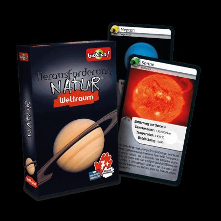 Herausforderungen Natur - Weltraum - Spiel ab 7 Jahren - Bioviva, Entwickler von Spielen, die Gutes tun.