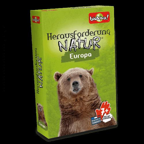 Herausforderunf Natur EuropaSpiel ab 7 Jahren - Bioviva, Entwickler von Spielen, die Gutes tun.