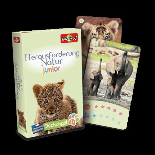Herausforderung Natur Junior - Dschungel- Spiel ab 3 Jahren - Bioviva, Entwickler von Spielen, die Gutes tun.