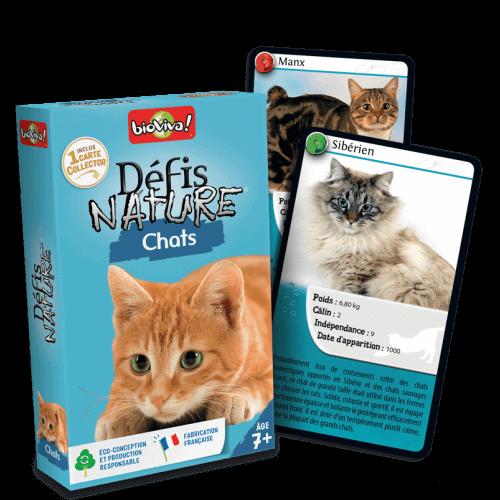 Défis Nature Chats - Jeu à partir de 7 ans - Bioviva, créateur de jeux qui font du bien.