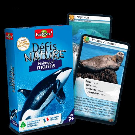 Défis Nature Animaux marins - Jeu à partir de 7 ans - Bioviva, créateur de jeux qui font du bien.