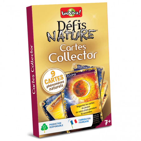 Défis Nature - Pack Cartes collector Or - Jeu à partir de 7 ans