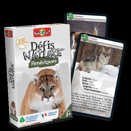 Défis Nature Amériques - Jeu à partir de 7 ans - Bioviva, créateur de jeux qui font du bien.