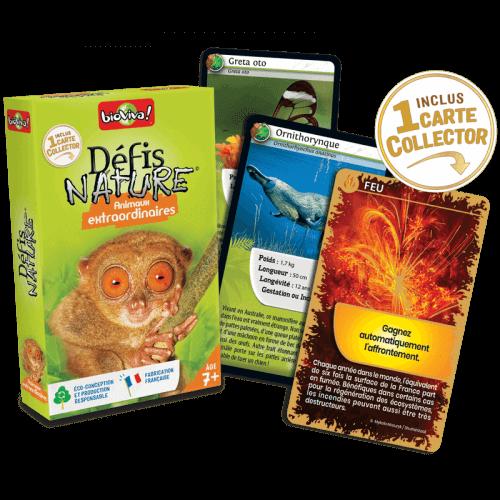 Défis Nature Animaux Extraordinaires - Jeu à partir de 7 ans - Bioviva, créateur de jeux qui font du bien.