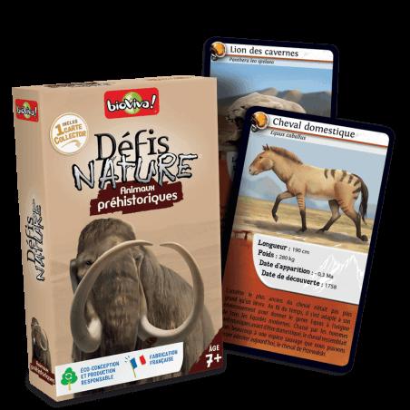 Défis Nature Animaux préhistoriques - Jeu à partir de 7 ans - Bioviva, créateur de jeux qui font du bien.