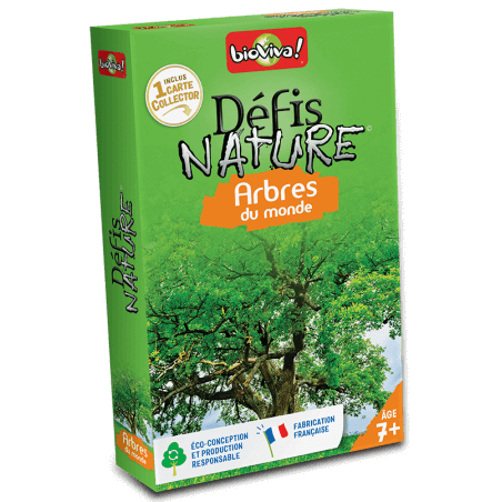 Défis Nature arbres du monde - Jeu à partir de 7 ans - Bioviva, créateur de jeux qui font du bien.